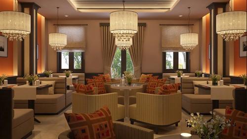 Trang trí quán cafe đẹp với sự kết hợp hoàn hảo giữa bàn ghế tròn và vuông