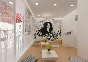 Thiết kế quán cafe đẹp QQ