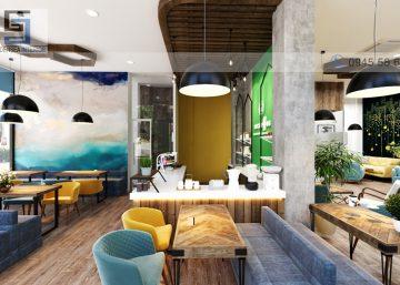Đẹp mê mẩn thiết kế quán cafe văn phòng Co:coffee 5