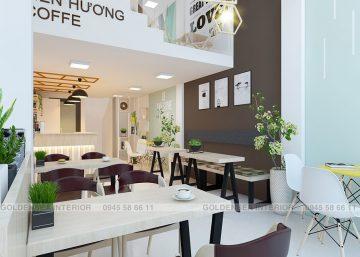 """THIẾT KẾ QUÁN CAFE ĐẸP LIÊN HƯƠNG COFFEE CỰC """"SANG CHẢNH"""" 2"""